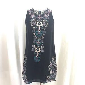 Ecote Black Pink Open Back Mini Dress M